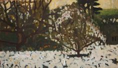 Bridget Moore ARWS, Wisley Blossom, gouache  Contact info@banksidegallery.com for further details. See www.banksidegallery.com for other prints and paintings.