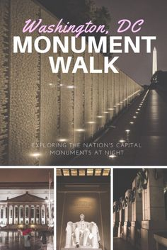 Touring the National Monuments in DC at night is an experience worth having while exploring Washington DC's National Mall and beyond. Dc Monuments, National Mall, Exploring, Washington Dc, Touring, Night, Explore, Research, Study