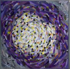 Concentric Triangles by Ursula Kern (Switzerland) | art quilt