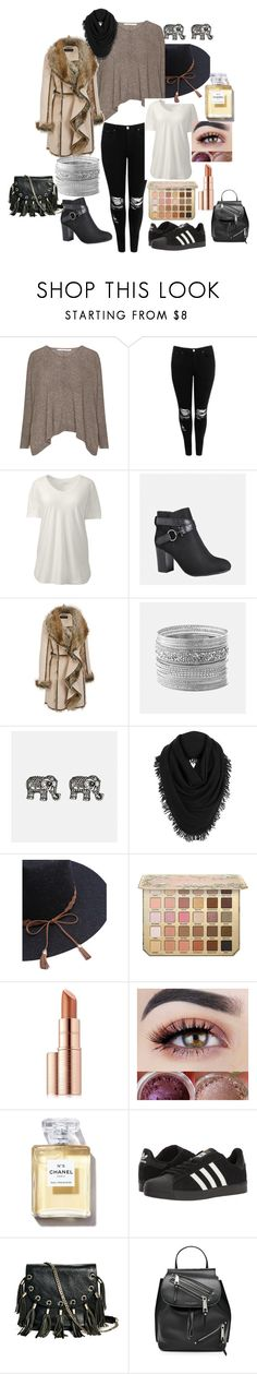 """""""Winter outfit"""" by viviana-analia-farioli on Polyvore featuring moda, Boohoo, Lands' End, Avenue, White + Warren, Estée Lauder, adidas, GUESS by Marciano, Marc Jacobs y plus size clothing"""