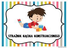 Dyżurni w przedszkolu - materiały do pobrania - Pani Monia Family Guy, Snoopy, Clip Art, Education, Fictional Characters, Bullet Journal, House, Ideas, Home