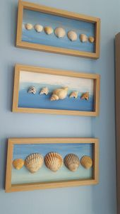 Deko basteln Conchas A Patriotic House Adorning Theme Are you laborious core pink, white, and blue? Seashell Bathroom Decor, Seashell Art, Seashell Crafts, Diy Bathroom Decor, Beach Crafts, Summer Crafts, Home Crafts, Diy And Crafts, Crafts For Kids