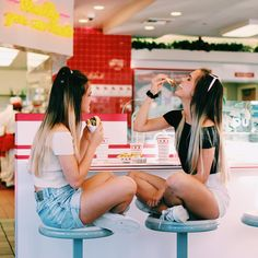 Bff friends artsy photo picture shoot model diner vacation summer break fun sun beach fashion cute