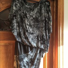 Mini Dress Black & Grey mini jersey dresses with faux leather insert. Size M Never Worn Venus Dresses Mini