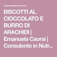 BISCOTTI AL CIOCCOLATO E BURRO DI ARACHIDI | Emanuela Caorsi | Consulente in Nutrizione Olistica