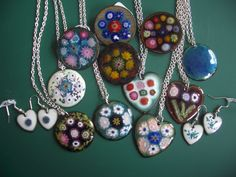 A selection of my enamelled jewellery