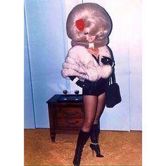 #TGIF Thank God I'm Fabulous #bouffant #beehive #fox #fur #furstole #furfashion #hotpants #sixties