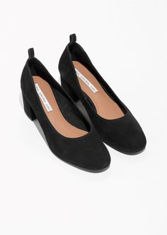 & Other Stories image 2 of Suede Ballet Pump in Black