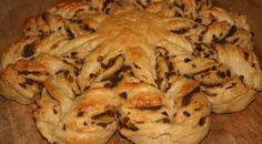 Star Bread ( with mushrooms )