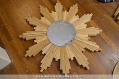 gold leaf wood shim sunburst mirror - 5