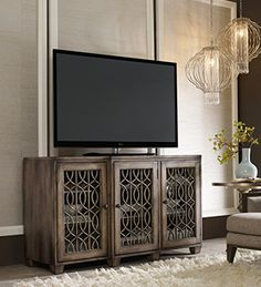 shop for hooker furniture 64 inch entertainment console 500 55 214 and other home entertainment entertainment centers at finesse furniture interiors in amazoncom furniture 62quot industrial wood