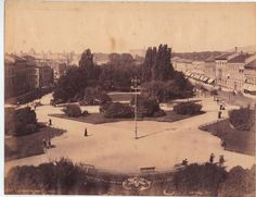 Eidsvolls plass, Oslo, Norway – photo probably taken from the Parliament - Rare Photographs Of 1880 Norway  Page 2 of 2  Best of Web Shrine