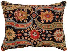 Afshar 16x20 Needlepoint Decorative Pillow
