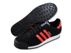 adidas Originals Men's Samoa Lea Sneaker,Black/Running White,9 M