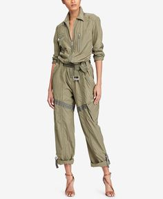 398.00$  Watch here - http://vibqx.justgood.pw/vig/item.php?t=85889515879 - Zip-Front Jumpsuit