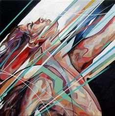 Abstract Portrait Paintings by Uk based painter Danny O'Connor.