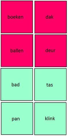 MEMORY SAMENSTELLINGEN: Zoek 2 kaarten die samen een correcte samenstelling vormen. Op de roze kaarten staat telkens het eerste deel van de samenstelling en op de blauwe kaarten het tweede deel. Wie vindt de meeste paren?