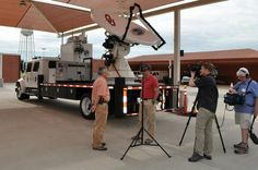 Interviewing Don Burgess from NSSL about the research done by VORTEX2 — in Norman, Oklahoma.
