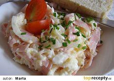 Salát ze sterilovaného celeru recept - TopRecepty.cz Baked Potato, Risotto, Potato Salad, Salads, Food And Drink, Appetizers, Potatoes, Chicken, Baking