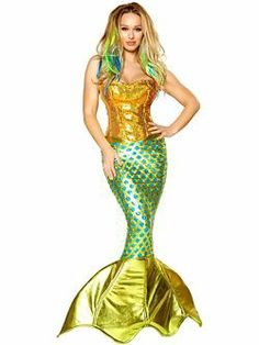 ea608a439d4eb Adult Sexy Siren of the Sea Costume- pretty cool mermaid option Costume  Halloween