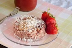 5 minute Strawberry Quinoa Flake Bake  Vegan, Gluten free, Dairy free, Refined sugar free, Yeast free