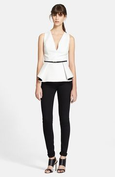 Robert Rodriguez Bonded Peplum Top available at #Nordstrom