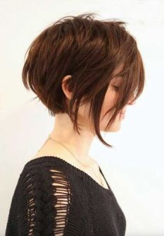 Keep your angled bob unexpected with just a few surprise layers around your face. Fresh and fun, and so simple.