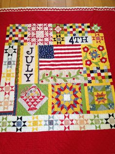 4th of July quilt made using an American Jane pattern