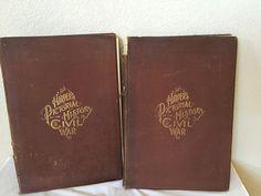 Antique HARPER'S PICTORIAL HISTORY OF THE CIVIL WAR 2 Volume Set Guernsey 1894