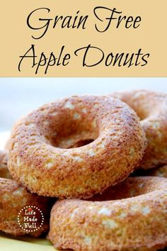 You could call these Paleo Apple Donuts, but to avoid the Paleo Police, I'm calling them Grain Free Apple Donuts! Donut Recipes, Paleo Recipes, Whole Food Recipes, Cooking Recipes, Free Recipes, Paleo Baking, Gluten Free Baking, Paleo Bread, Paleo Sweets