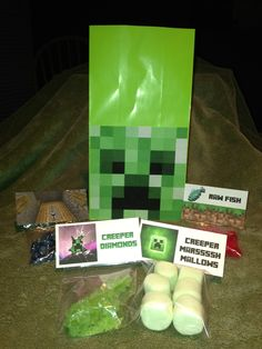 Minecraft Creeper Birthday Party Kit Package  #minecraft