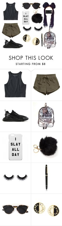 """#500Followers!!!"" by pandadonuttwin on Polyvore featuring Aéropostale, H&M, NIKE, adidas, Montblanc, Christian Dior and Chanel"
