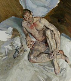 Lucian Freud (British (born Germany), Berlin 1922–2011 London), Portrait of the Hound, 2011. Oil on canvas, 62 3/16 × 54 5/16 in. (158 × 138 cm). Private Collection © Lucian Freud Archive / Bridgeman Images / photograph courtesy Lenz & Staehelin, Zurich