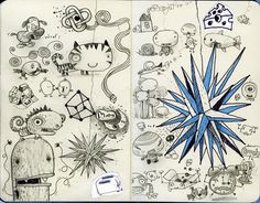 doodle characters and ideas. artist jim bradshaw.