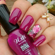 Pink Nail Art, Pink Nails, Nail Art Designs, Nails Design, Exotic Nails, Nail Candy, Bridal Nails, Flower Nails, 3d Nails