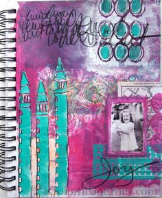 ©Carolyn Dube Random Gelli printing created the rich background for this art journal page and I am again reminded of how important it is to have a rich foundation when creating. All my color choices came from the Gelli play! http://acolorfuljourney.com/?p=8799