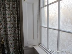 DIY lace privacy window covering, Annabel Vita on Remodelaholic