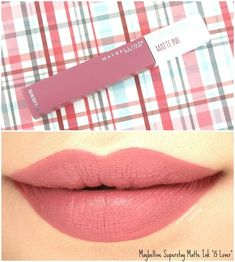 Maybelline Superstay Matte Ink Liquid Lipstick   15 Lover: Review and Swatches