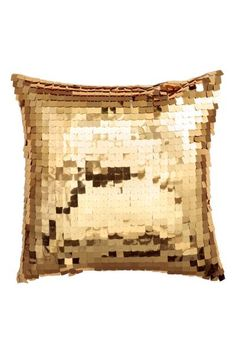 Sequined cushion cover: Cushion cover with sequins on the front, cotton twill backing, and concealed zip.
