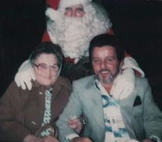 Tony Spilotro with his mother and Santa Clause. (Ross Stanger)
