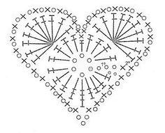 Ideas crochet heart motif pattern flower tutorial for 2019 Crochet Snowflake Pattern, Christmas Crochet Patterns, Crochet Snowflakes, Crochet Art, Crochet Stitches Patterns, Crochet Gifts, Crochet Motif, Crochet Doilies, Crochet Flowers