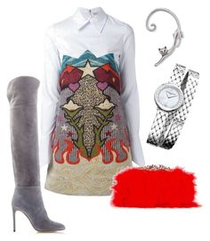 """""""Untitled #126"""" by cbutler1919 on Polyvore featuring Mary Katrantzou, Sergio Rossi, Alexander McQueen and Baume & Mercier"""