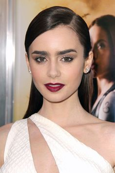 Lily Collins's vampy look