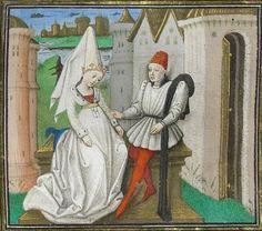 Medieval Fashion, Medieval Clothing, Giovanni Boccaccio, Book Of Hours, Renaissance, Illuminated Manuscript, Miniatures, Illustration, Zodiac