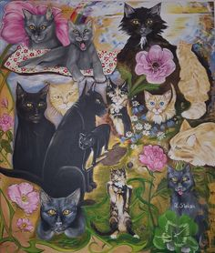 Love, joy and a little madness oil on canvas Anne Karin Stølan Oil Paintings, Madness, Oil On Canvas, Joy, Gatos, Glee, Being Happy, Art Oil, Happiness