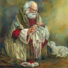 Portrait Artist Gaye Willard Santa Paintings Page.Behold the Lamb