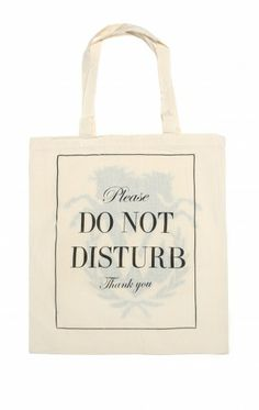 DO NOT DISTURB TOTE BAG - Wildfox