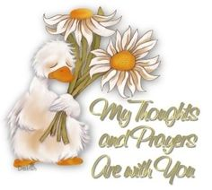My thoughts and prayers are with you ; Blessing