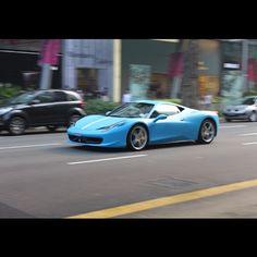Matte Blue Ferrari 458 Italia #awesome