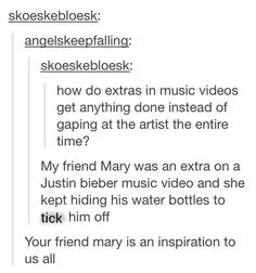 Ha haha. My name is Mary. Ha